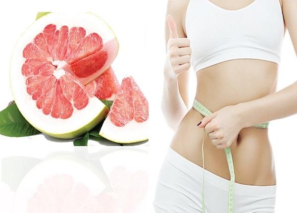Bưởi giúp bạn đốt mỡ cực tốt khi kết hợp vào các bữa ăn giúp giảm cân