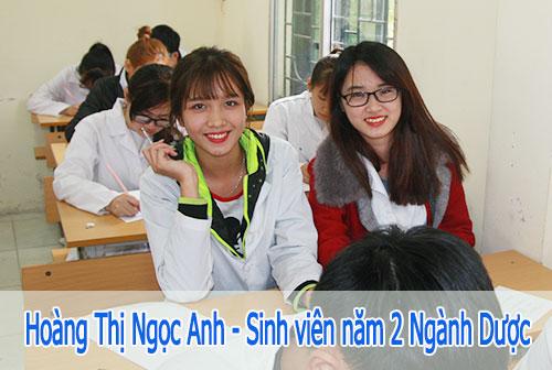 Hoàng Thị Ngọc Anh sinh viên năm 2 Ngành Dược tại Trường Cao đẳng Y Dược Pasteur