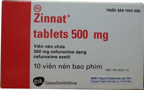 Hướng dẫn liều lượng khi sử dụng thuốc Zinnat tablets 500mg