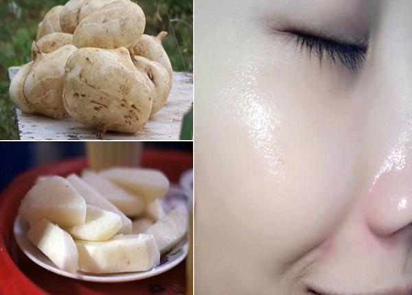 Làm trắng da với mặt nạ củ đậu hiệu quả