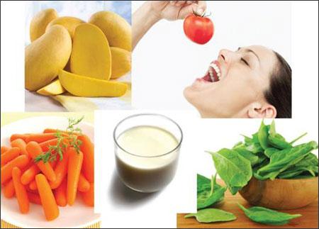 Do đó, để bảo vệ mắt và làm đẹp da, cải thiện tình trạng giảm thị lực, bạn nên đảm bảo chế độ ăn uống giàu vitmain